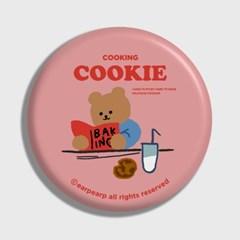[어프어프] 손거울 Cookie bear-pink