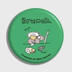 [어프어프] 손거울 Brunch cat-green