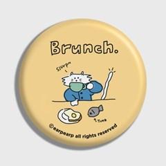 [어프어프] 손거울 Brunch cat-Creamyellow