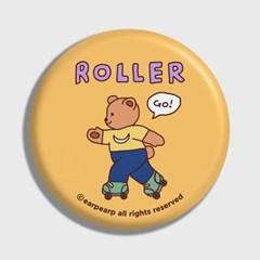 [어프어프] 손거울 Roller bear-mustard