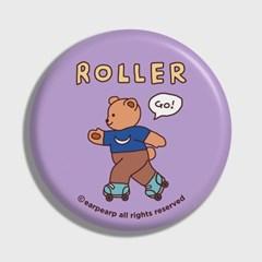 [어프어프] 손거울 Roller bear-violet