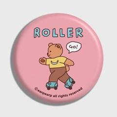 [어프어프] 손거울 Roller bear-pink