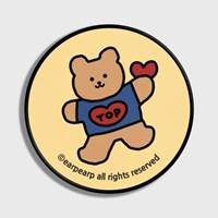 [어프어프] 스마트톡 Bear heart-Creamyellow