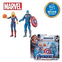 어벤져스 6인치 피규어 팀팩 1 - 캡틴마블&캡틴아메리카_(1395085)