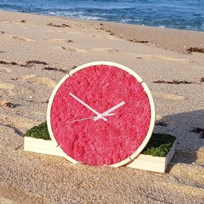 [숲앤숨]  원목 모스 벽시계(30cm)-씨클라멘