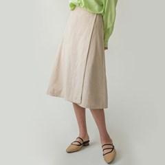 linen midi wrap skirt_(1166094)