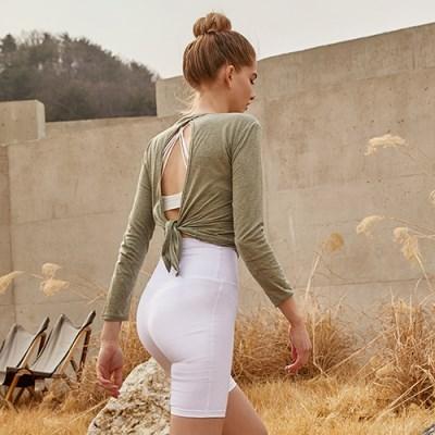 여성 요가복 DEVI-T0008-샌드 필라테스 티셔츠 긴팔