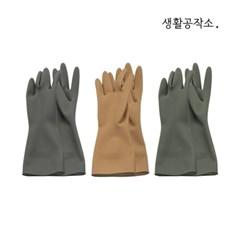 [생활공작소] 고무장갑 5입 일반형(33cm)그레이/베이지_(870926)