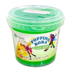 꽃샘 팝핑보바 그린애플향 1.2kg/팝핑보바/버블티_(800755)