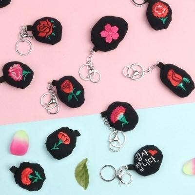 장미,카네이션,벚꽃키링 / 이름자수 /자수열쇠고리