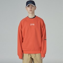 Basic cursor sweatshirt-orange