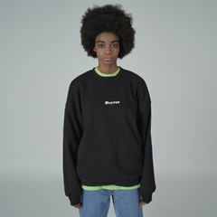 Overlap sweatshirt-black