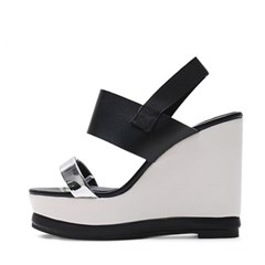 kami et muse Silver strap wedge sandals_KM19s111