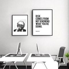 워렌버핏 명언 타이포그래피 액자 인테리어 포스터