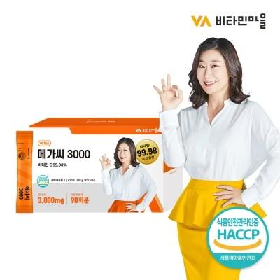 [비타민마을] 메가씨 3000 분말스틱 1박스(총90포)