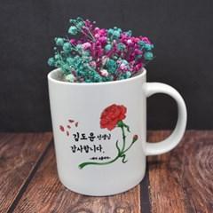 [꽃잎 카네이션 머그컵] 어버이날선물/스승의날 추천