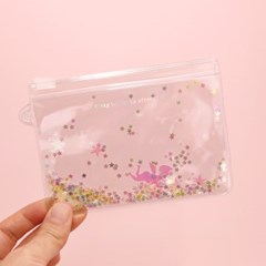 Pinky holic clear pouch_S_5.Glitter_Angel Crystal