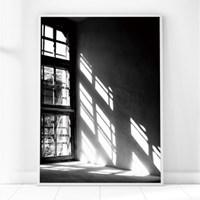 흑백 창문 그림 포스터 인테리어 액자