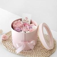 [최저가]핑크작약 & 카네이션 2단플라워BOX(용돈박스)하프패키지