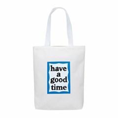 [Haveagoodtime] Blue Frame Tote Bag_WHITE