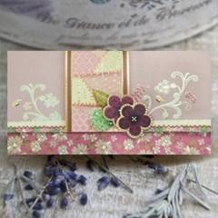 자수 꽃 용돈봉투 FB1013-3