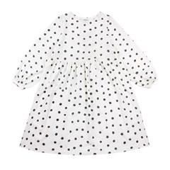 [리틀비티] 도트 플레어 드레스 (화이트)_(1021062)