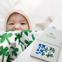 페이퍼토이 모달이중거즈 아기이불 어린이집수건 기프트세트