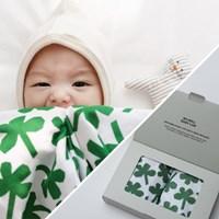 페이퍼토이 모달이중거즈 아기이불 2장 기프트세트