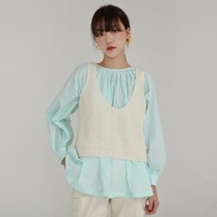 crop knit vest (3colors)_(1259852)