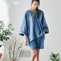 [W] Sam Short Sleeve PJ Set Arctic Blue