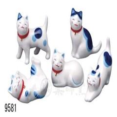 [일본]마네키네코 복고양이 수저받침세트(5P)-T9581