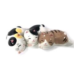 [일본]마네키네코 복고양이 수저받침세트(3P)-T9521