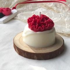 카네이션 케이크 캔들