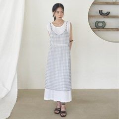 gingham check layerd ops_(1205101)