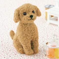 하마나카 양모니들펠트 갈색푸들 강아지 DIY 키트