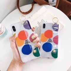 투명 그립 컬러포인트 아이폰 케이스