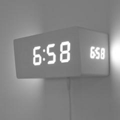 [Banana] 바나나 3면 슬라이트(Sli+te)디지털 LED 벽. 탁상겸용시계