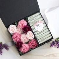 비누꽃 카네이션 용돈박스(3color) - 와인&핑크