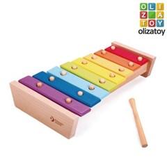 알록달록 딩동댕 레인보우 유아 악기 장난감 실로폰