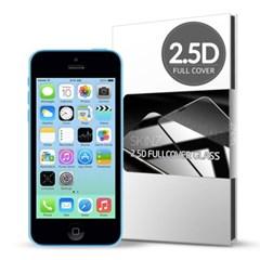 스킨즈 아이폰5C 2.5D 풀커버 강화유리필름 (1장)_(901021685)