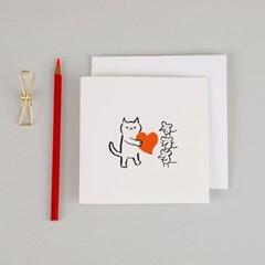 모두를 사랑해 고양이 카드