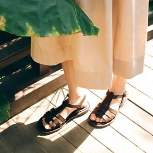 [PIER4]Rhea Strap Sandal_Dark Brown