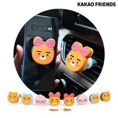 카카오프렌즈 차량용 송풍구 거치대+그립톡 슬림 SET