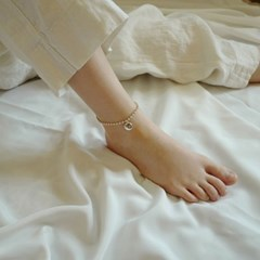 silver ball ankle bracelet