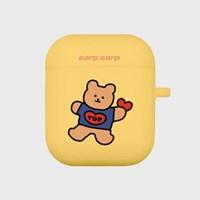 Bear heart-yellow(Air Pods)_(1119629)
