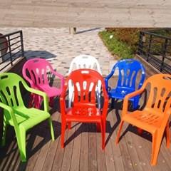국내산 파라솔 팔걸이의자 4개세트/편의점의자/캠핑의자