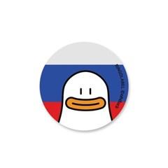 [링고라벨] 오우덕 러시아 캐리어스티커 노트북스티커