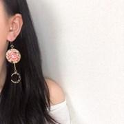 꽃 별 드롭 귀걸이