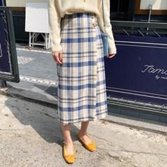 lris linen check skirt_K_(1274946)