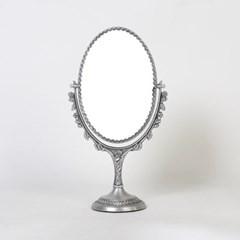 큐티 메탈 장미 타원 화장대 양면거울 미디움-3색상
